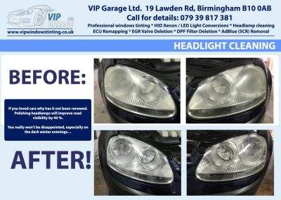 Vip Garage Headlight cleaning 1