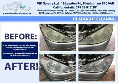 Vip Garage Hedlight cleaning 2