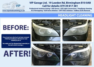 Vip Garage Hedlight cleaning 3