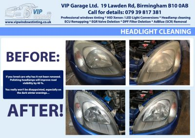 Vip Garage Hedlight cleaning 4